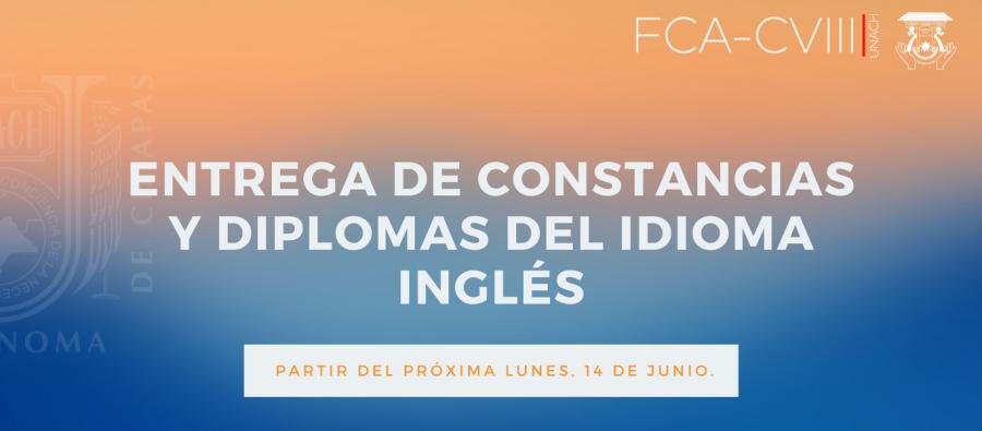 Entrega de Constancias y Diplomas del idioma Inglés