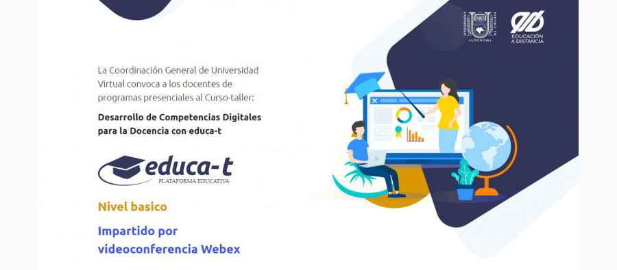 Curso taller: Desarrollo de Competencias Digitales para la Docencia con Educa-T