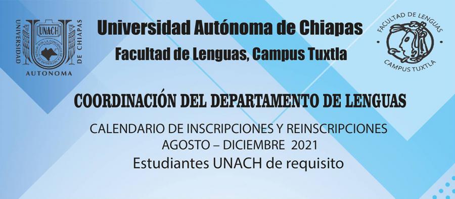 Calendario de Inscripciones y Reinscripciones al Depto. de Lenguas