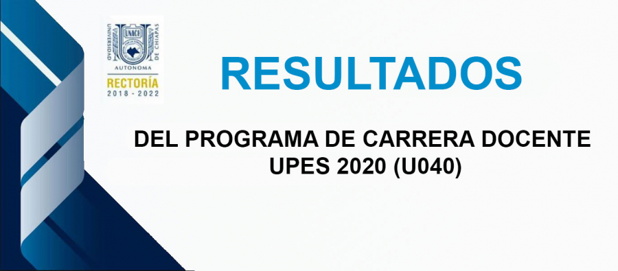 PROGRAMA DE CARRERA DOCENTE EN UPES 2020 (U040) -Fondo Extraordinario-